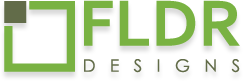 fldr design logo footer