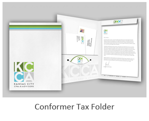 graphic designer for conformer tax folders