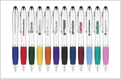 curvaceous ballpoint stylus pens