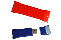 custom designed candy wrapper usb drives