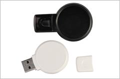 custom designed dome round flash drives