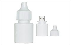 custom designed eye dropper flash drives
