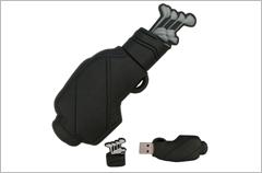 custom designed golf bag usb drives