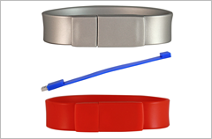 custom designed silicone wristband thick usb drives