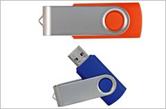 custom designed swivel series flash drives
